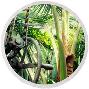 Palm House Pulley Round Beach Towel