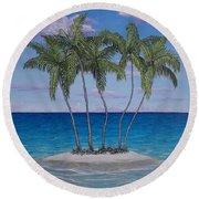 Palm Island Round Beach Towel