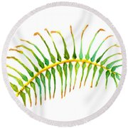 Palm Leaf Watercolor Round Beach Towel