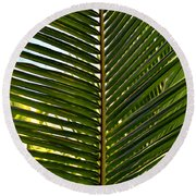 Palm Leaves Round Beach Towel