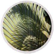 Palm On Palm Round Beach Towel