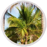 Palm Portrait Round Beach Towel
