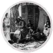 Palm Reading, C1902 Round Beach Towel