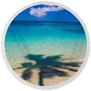 Palm Shadows Round Beach Towel