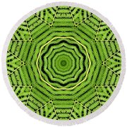 Palm Tree Kaleidoscope Abstract Round Beach Towel