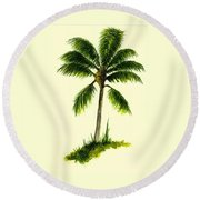 Palm Tree Number 1 Round Beach Towel