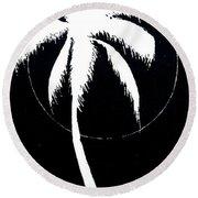 Palm Tree Number 8 Round Beach Towel