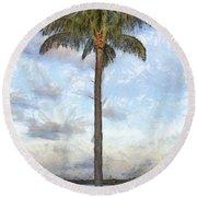 Palm Tree Pencil Round Beach Towel