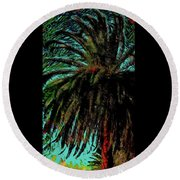 Palm Trees 40 Version 2 Round Beach Towel