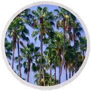 Palm Trees. California, Sunny Beauty Round Beach Towel