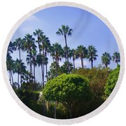 Palm Trees. My Beautiful California Round Beach Towel