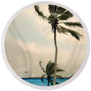 Palm Trees - Nassau Round Beach Towel