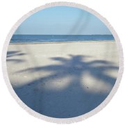 Palm Trees Over Fort Myers Beach Fort Myers Florida Round Beach Towel