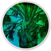 Palm Visions Round Beach Towel