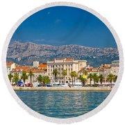 Palm Waterfront Of Split City Round Beach Towel