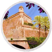 Palma De Majorca Old City Walls Round Beach Towel