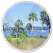 Palmetto Bluff Backyard Round Beach Towel