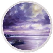 Palmetto Moonscape Round Beach Towel