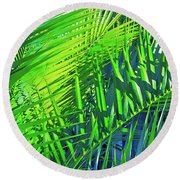 Palms 2 Round Beach Towel