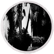 Palms And Arches Round Beach Towel