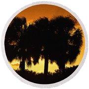 Palmset Round Beach Towel