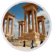 Palmyra-tetrapylon Round Beach Towel