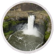 Palouse Falls State Park Round Beach Towel