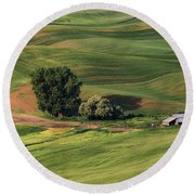 Palouse Farm 1 Round Beach Towel