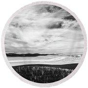 Palouse Field Ir 1034 Round Beach Towel
