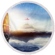 Pan Round Beach Towel