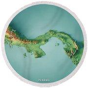 Panama 3d Render Topographic Map Border Digital Art By Frank Ramspott