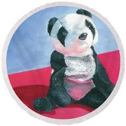 Panda 1 Round Beach Towel