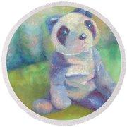 Panda 2 Round Beach Towel