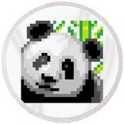 Panda Round Beach Towel