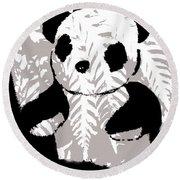 panda XXX Round Beach Towel
