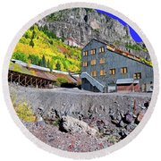 Pandora Mill - Telluride - Colorful Colorado Round Beach Towel