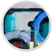 panel three from Centrifuge Round Beach Towel