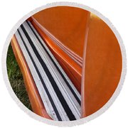 Panel Truck Running Board Round Beach Towel