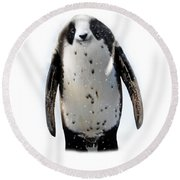 Panguin Round Beach Towel