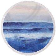 Panorama Ocean Painting Round Beach Towel