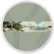 Panorama Of Landscape Round Beach Towel