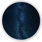 Panorama Of The Milky Way Round Beach Towel