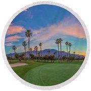 Panorama Palm Springs Golfing Round Beach Towel
