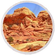 Panoramic Coyote Buttes Landscape Round Beach Towel