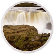 Panoramic Waterfall Manitoba Round Beach Towel