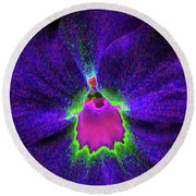 Pansy 05 - Photopower - Thoughts Of You Round Beach Towel