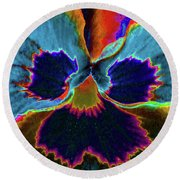 Pansy 09 - Photopower - Thoughts Of You Round Beach Towel