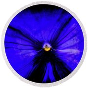 Pansy Abstract Grunge Round Beach Towel