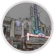 Pantages Theater Hollywood Round Beach Towel