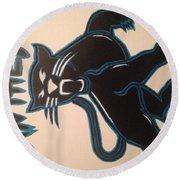 Panthers Nfl Logo Round Beach Towel